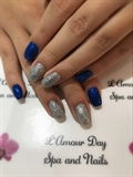 Blue And Glitters