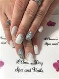 Summer White Nails