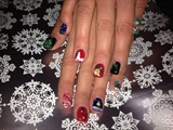 Hohohoho Merry Christmas.....Gel nails