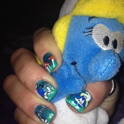 The Smurfs!!!!!! Gel Nails