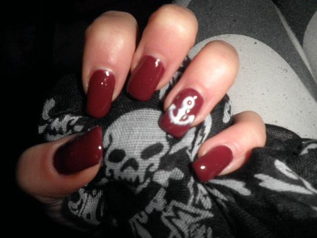 Anchor Pin up Nails......Gel Nails