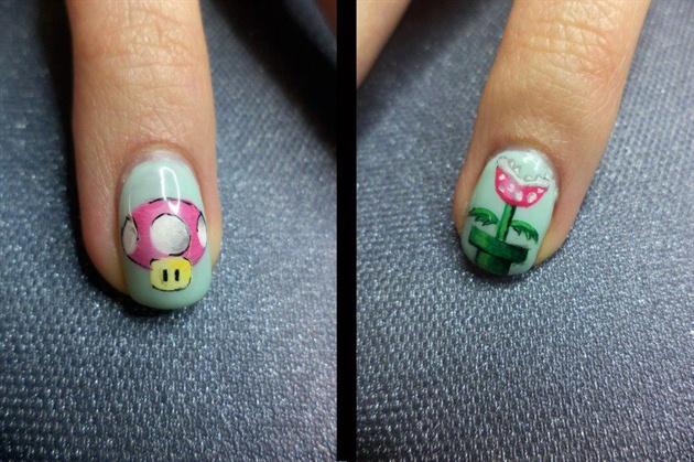 Super Mario..... Gel Nails