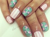 Cath Kidston inspired nail art.