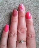 abstarct pink nails