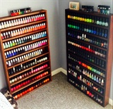 Home Made Nail Polish Shelves