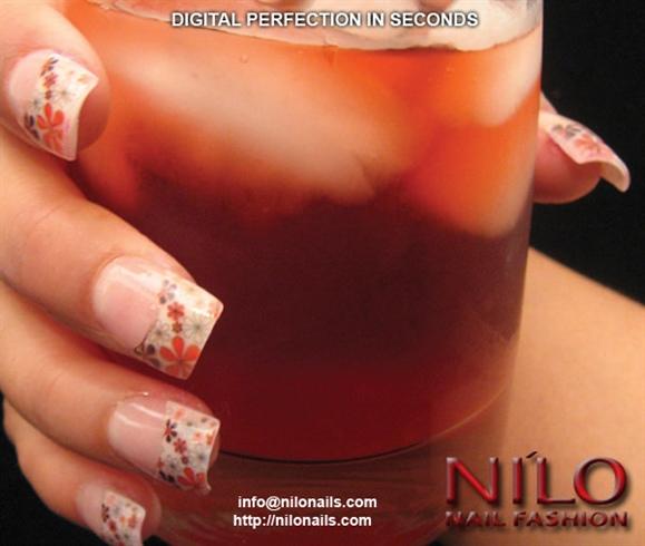 Digital lilies on acrylic w/gel topcoat