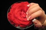 Rasberry vine on acrylic w/gel topcoat