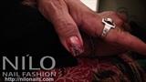 Champagne polish with NILO digital lace