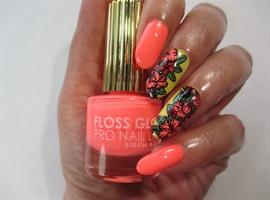 nail art: Tropical Neon
