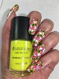 Neon Geometric Flowers