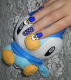 Piplup nail art