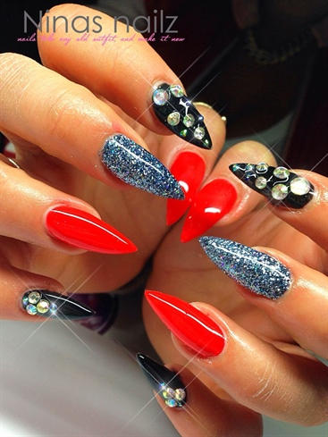 red black glitter