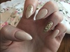 Nude And Gold Sparkle