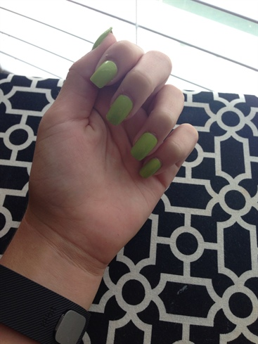 Green Square Nails
