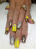 Square Yellow & Leopard
