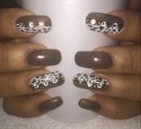 Brown & White Leopard