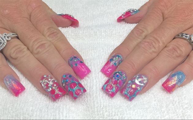 Pink Beach Nails