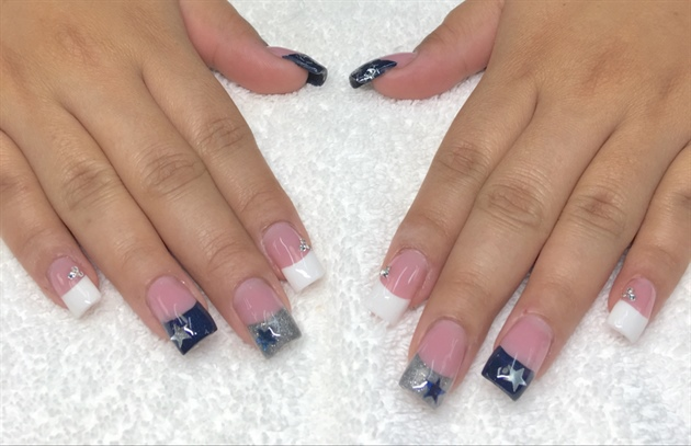 Dallas cowboy nail art nail art ideas dallas cowboys nail art gallery prinsesfo Image collections