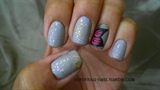 Gilded Lavender Butterflies