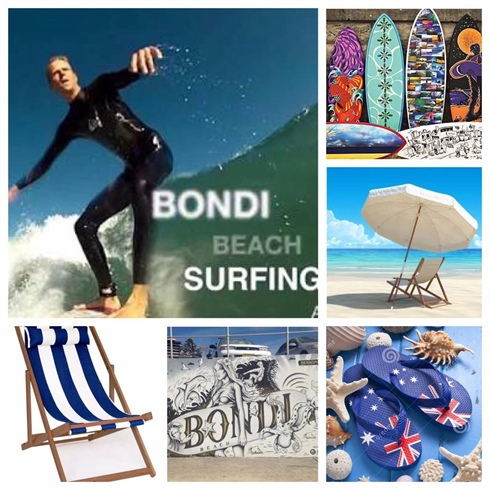 My inspiration pictures for Bondi neighbourhood and Bondi Beach.