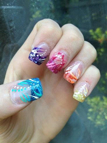 Glitter Tips Nail Art Gallery