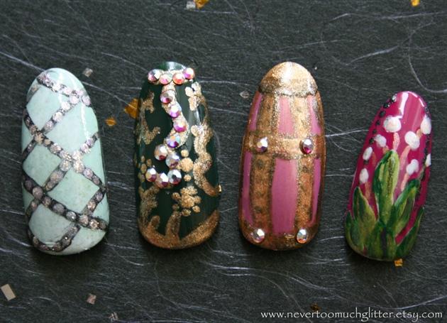 Faberge Egg Art Nails 1