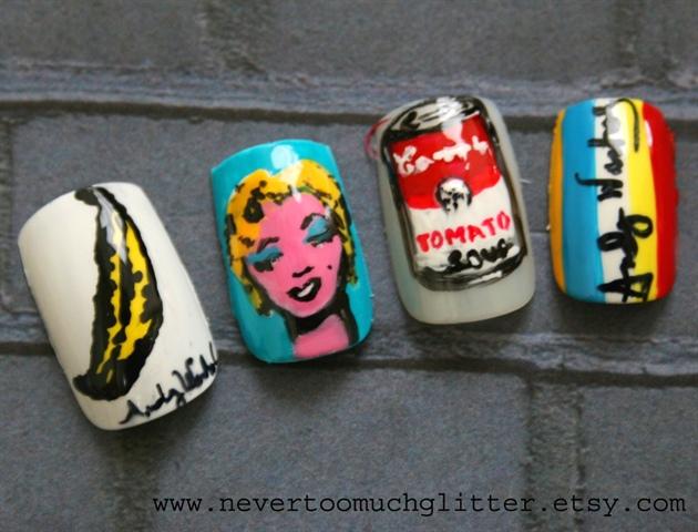 Andy Warhol Pop Art Nails 1