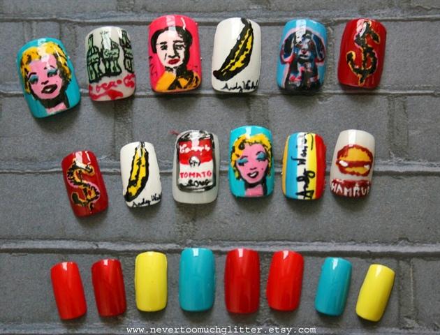 Andy Warhol Pop Art Nails