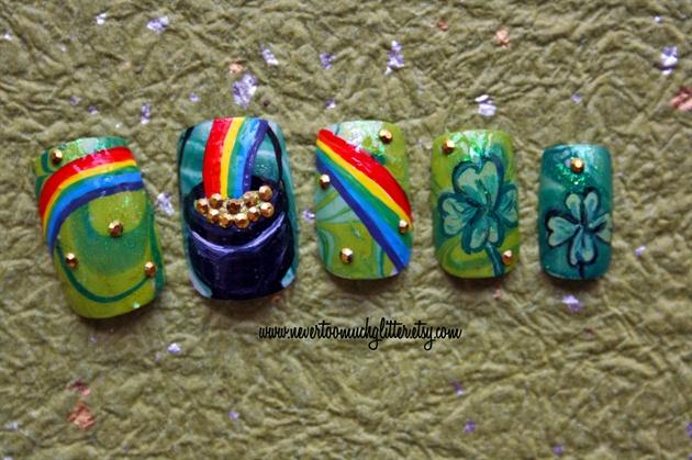 Pot O Gold St. Patrick's Day Nails