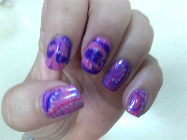 Water marble Purple and pink