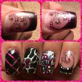 Bling Pink Nails