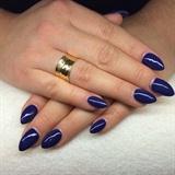 Nail Purple Blue