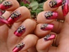 red corset nail art