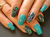 retro nail art