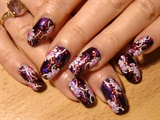 dark purple glitterpu