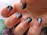 elegant fimo nail art