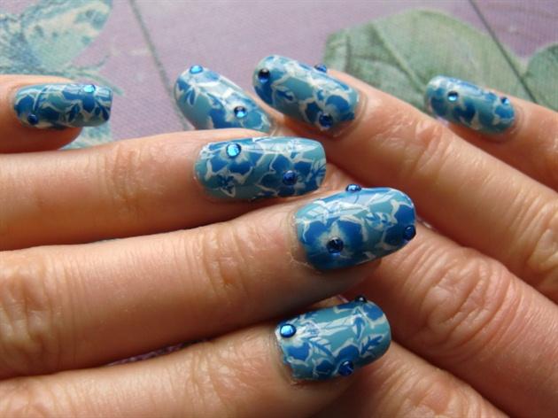 blue one stroke