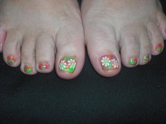 Tye Dye Toes