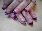 Valentines Nails Purple
