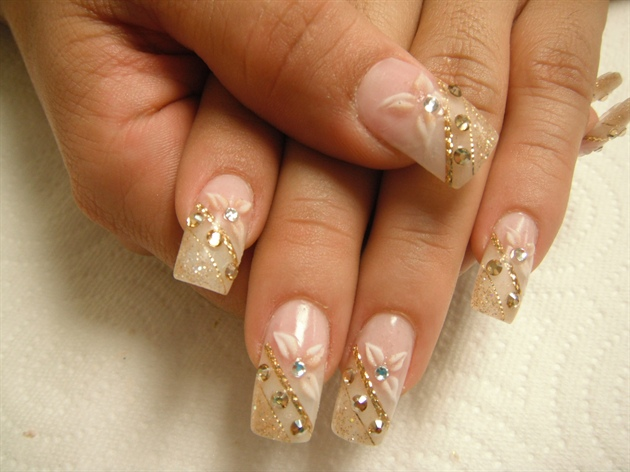 The gold nails4