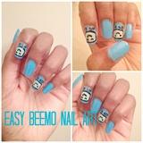 Beemo Inspired Nail Art