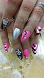 hot pink and black shine