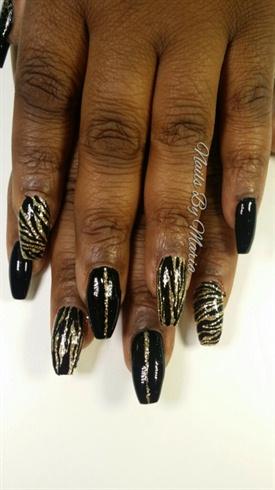 black and gold zebra print