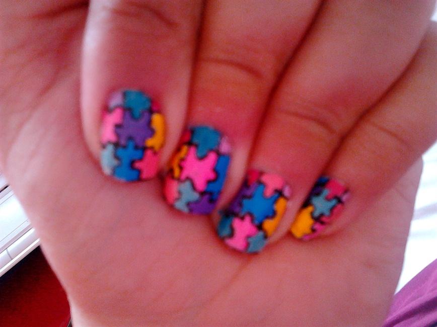 Puzzle nails - Nail Art Gallery