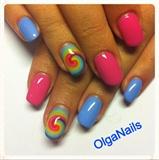 OlgaNails Acrylic CND, Jessica Paint