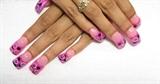 pink and black circles
