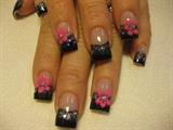 hot pink 3-d flowers