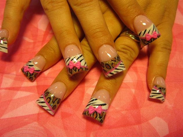 leopard zebra 3-d bows