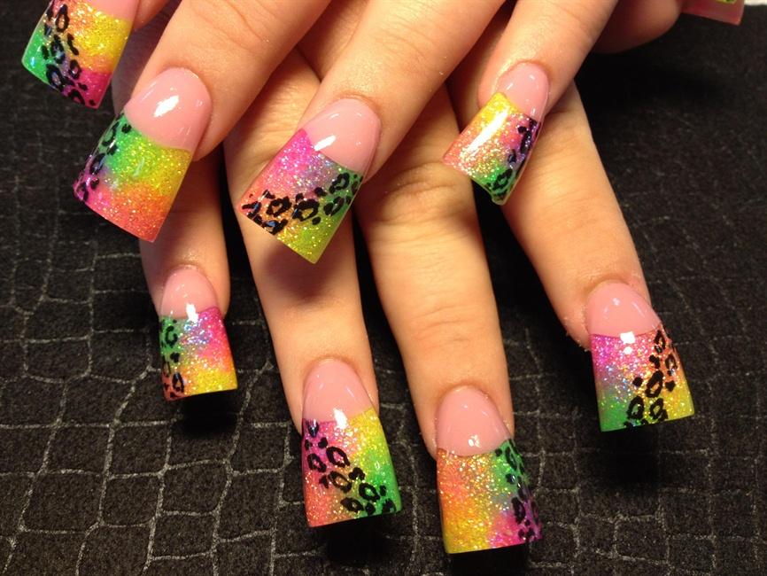 neon leopard - Nail Art Gallery