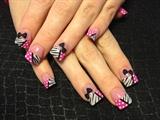 polka dots and zebra